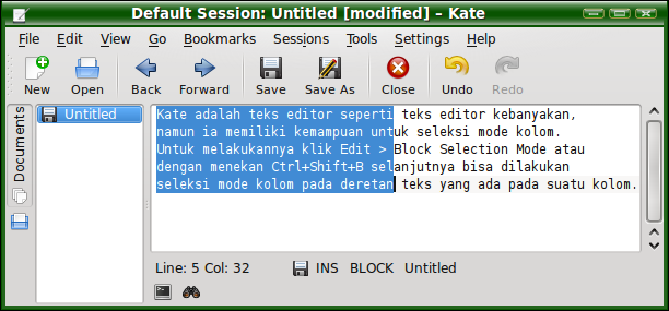 Screenshot-Default Session: Untitled [modified] – Kate