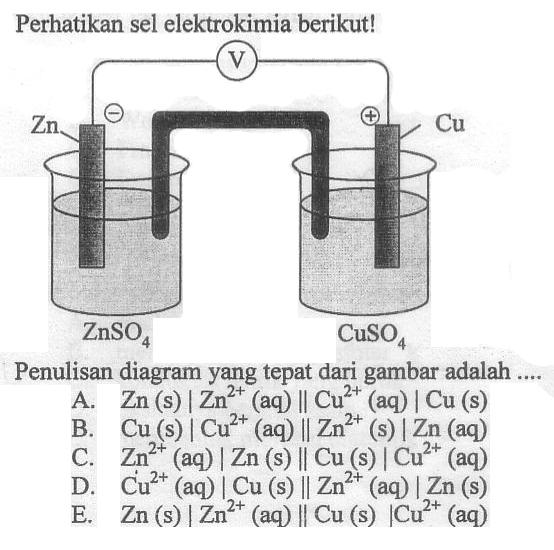 Pembahasan soal un kimia 2011 3 blog urip guru kimia secara umum notasi sel ccuart Choice Image