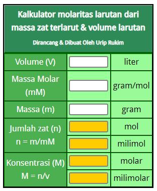 kalkulator molaritas