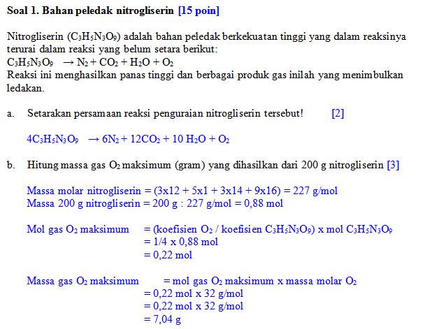 soal penyelesaian uraian no 1 osn kimia kab 2013-a