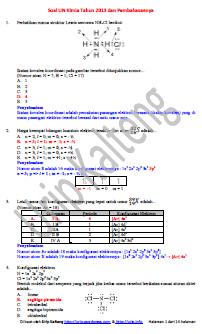 Soal Dan Pembahasan Ujian Nasional Kimia Tahun 2013 Man 1 Kota Padang