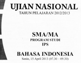 un bahasa indonesia 2013 ips