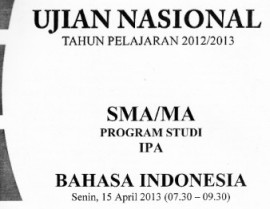 un bahasa indonesia 2013