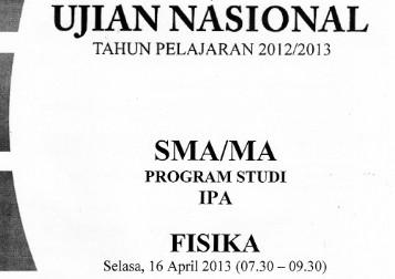 Download 21 Paket Soal UN Fisika SMA IPA Tahun 2013