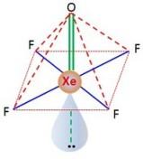 geometri-struktur-bentuk-molekul Xe