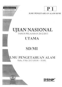 Soal UN Ilmu Pengetahuan Alam (IPA) SD P1 2013 (ukuran file pdf 2,3 MB