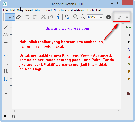 marvin sketch aktifkan Toolbars by Urip Kalteng