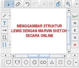 menggambar struktur lewis dengan marvin sketch online