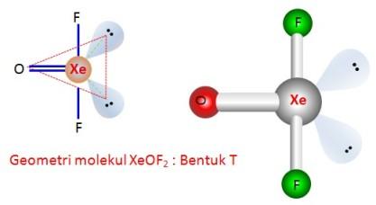 stuktur XeOF2 by urip kalteng