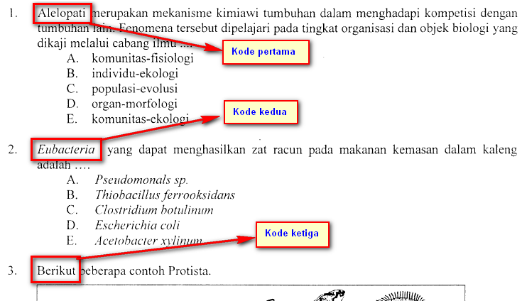 Bocoran Soal Ujian Nasional Biologi 2015 Biohikmah