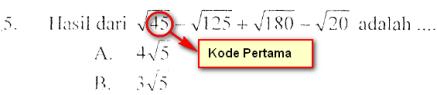kode pertama mat ips