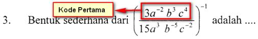kode pertama no 3