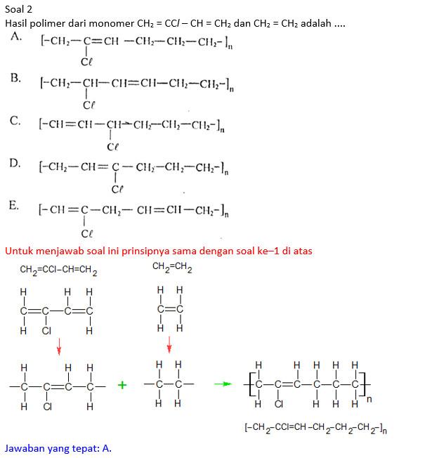 Pembahasan Soal Nomor 27 Pada Paket Paket Soal Un Kimia Tahun 2013 2014 Polimerisasi Kimiazainal