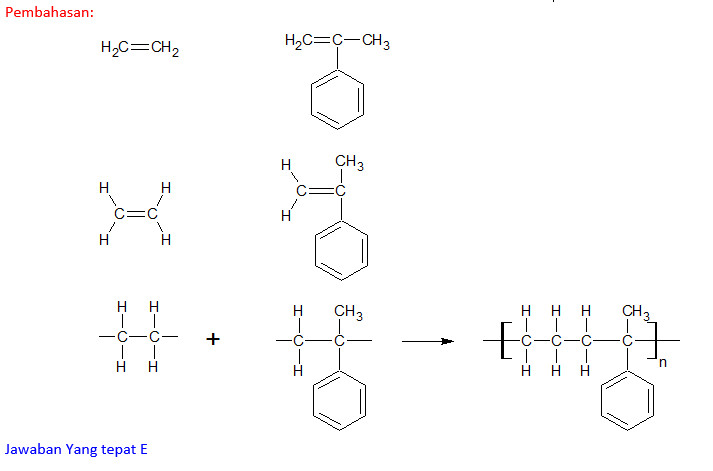 Pembahasan Soal Nomor 27 Pada Paket Paket Soal Un Kimia Tahun 2013 2014 Polimerisasi Blog